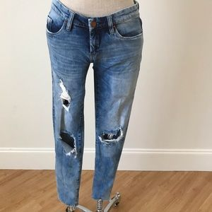 Blank NYC distressed jeans.